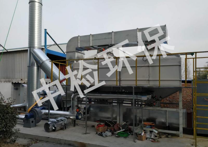 惠州某电器制造有限公司活性炭吸附+CO催化燃烧废气处理案例
